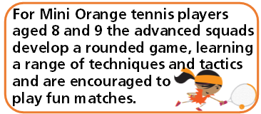 Advanced Min Tennis Orange