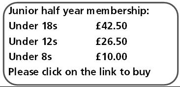 Junior Half Year Membership Offer